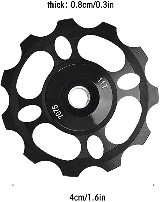 2pcs Aluminum Mountain Bike Cycle 11T Jockey Pulley Wheel Rear Derailleur Parts