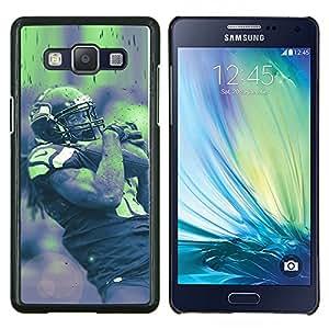 18 de la NFL- Metal de aluminio y de plástico duro Caja del teléfono - Negro - Samsung Galaxy A5 / SM-A500