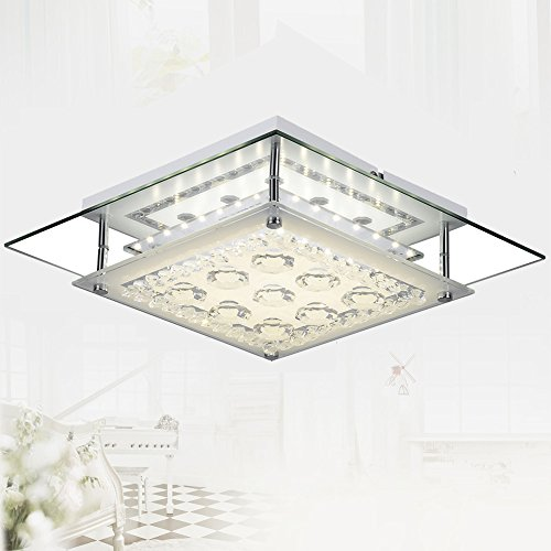 AUDIAN Modern Ceiling Lights Contemporary Flush Mount Ceiling Light Square Chandelier Lighting Fixture Ceiling Lamp Close to Ceiling Lighting LED Double Layer 11Inch 1320LM for Corridor Gangway Closet