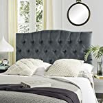 Safavieh Axel Wedgwood Blue Upholstered Tufted Headboard (Queen)