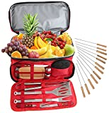 24 Pc Stainless Steel BBQ Grill Tool Set...
