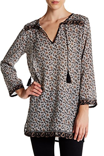Soft Joie Daria C Printed Cotton Tunic Top, Porcelain - Size Small