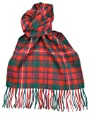 Lambswool Scottish Clan Scarf Mackinnon Red Modern Tartan