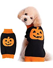 NACOCO Dog Sweater Pumpkin Pet Costume Halloween Holiday Party for Cat and Puppy