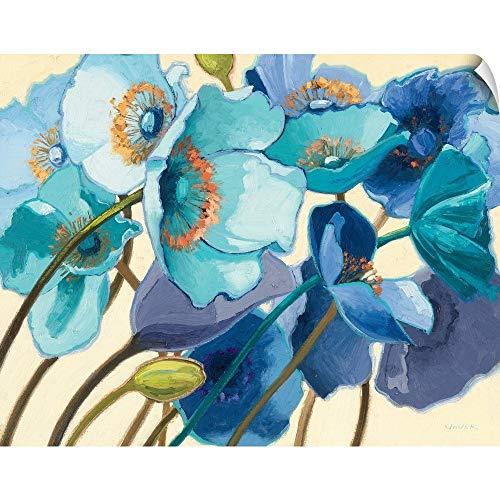 CANVAS ON DEMAND Le Pavots Bleu Wall Peel Art Print, 20