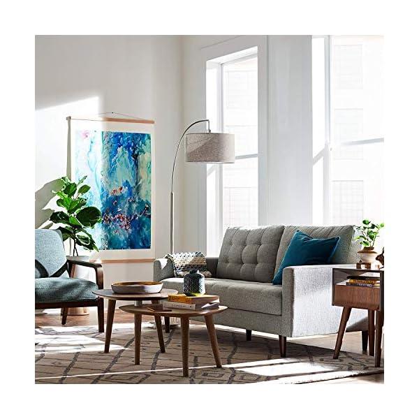 "Rivet Steel Arc Floor Lamp, 69""H, With Bulb, Fabric Shade 4"