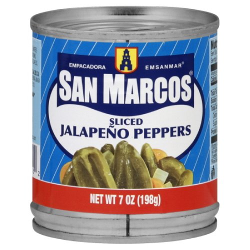 San Marcos Sliced Jalapeno Peppers, 7-Ounce (Pack of 24) by San Marcos