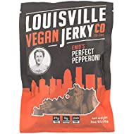 Louisville Vegan Jerky - Perfect Pepperoni - Non-GMO Soy Protein, Gluten-Free Ingredients (3 oz)