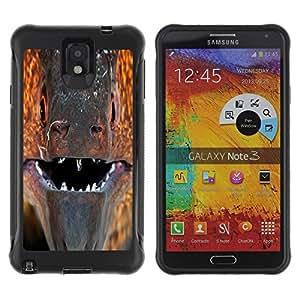 Pulsar Defender Series Tpu silicona Carcasa Funda Case para SAMSUNG Galaxy Note 3 III / N9000 / N9005 , murena ryba past vzglyad makro