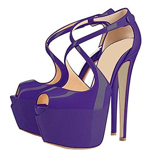 MERUMOTE - Zapatos con tacón Mujer morado