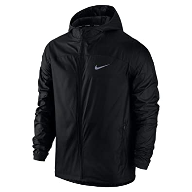 Amazon.com: Nike Men s shield chamarra de running, negro, S ...