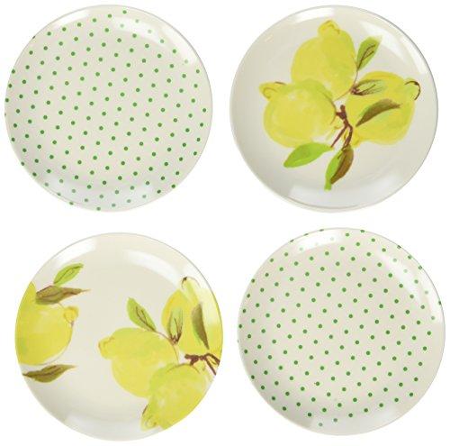 Kate Spade New York 176330 Lemon Melamine Coaster Set, Bright Yellow ()