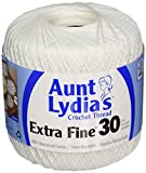 Arts & Crafts : Coats Crochet Aunt Lydia's Crochet, Cotton Extra Fine Size 30, White