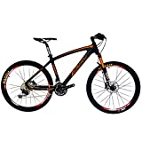 Cheap BEIOU Carbon Fiber Mountain Bike Hardtail MTB 10.65 kg Shimano M610 DEORE 30 Speed Ultralight Frame RT 26 Professional Internal Cable Routing Toray T800 Carbon Hubs Matte CB024C (Orange, 17-Inch)