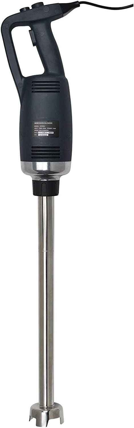 Li Bai 22 inch Immersion Blender 750W Electric Commercial Hand Emersion Mixer With Detachable Shaft Power 2500rpm to 15000rpm Capacity 304 Stainless Steel Variable Speed