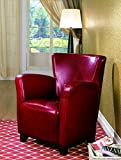 Coaster Home Furnishings Accent Chair with High Back Red For Sale