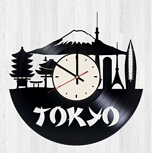 Tokyo Decor Vinyl Wall Clock Japan Unique Gifts Living Room Home Decor by Wall Gifts
