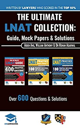 Amazon Com The Ultimate Lnat Collection 3 Books In One 600 Practice Questions Solutions Includes 4 Mock Papers Detailed Essay Plans 2019 Edition Law National Aptitude Test Uniadmissions Ebook Antony William Agarwal