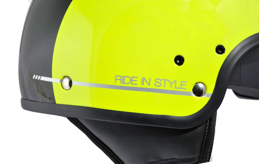 Nero gommato 57cm SKA-P 1NG Slim Half Jet Helmet M