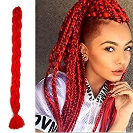 41″Kanekalon Braiding Hair Synthetic Crochet Hair 3pcs/lot Jumbo Braiding Hair Expression Braiding Hair African American Braiding Hair Extensions