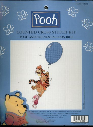(Walt Disney Counted Cross Stitch Kit - Winnie the Pooh and Friends Balloon Ride)