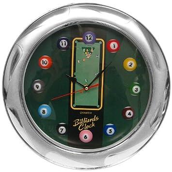 Trademark Gameroom Billiards Wall Clock, 13