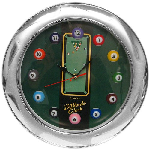 Trademark Gameroom Billiards Wall Clock, 13