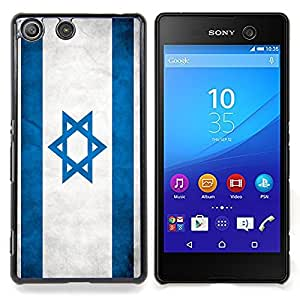 GIFT CHOICE / Teléfono Estuche protector Duro Cáscara Funda Cubierta Caso / Hard Case for Sony Xperia M5 // National Flag Nation Country Israel //
