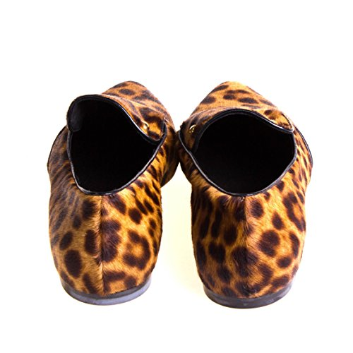 Just Cavalli Damen Halbschuh Slipper Fell Leopard