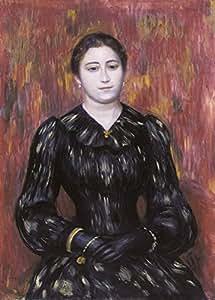 PIERRE-AUGUSTE RENOIR Retrato de Mademoiselle Paulin c1895-90 250 gsm Gloss Art Card A3 Reproducción Póster
