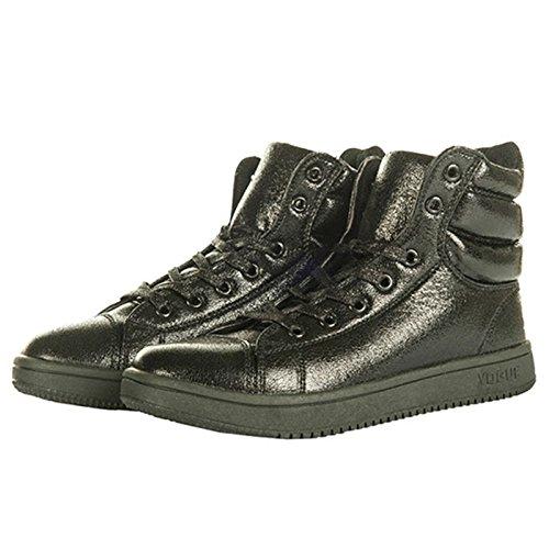 HKM–Metálico Zapatos de plástico negro