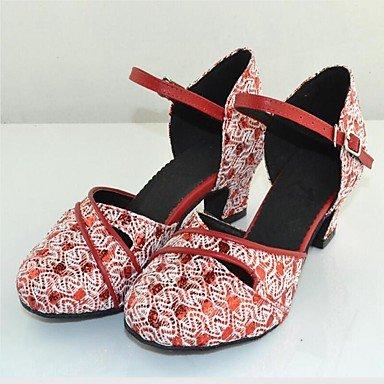Personalizables Zapatos de Fucsia Tacón Moderno baile gray Salsa Latino Personalizado Claqué xFwaCrFnq0