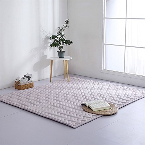 MEMORECOOL LIGHT UP YOUR HOME Kids Baby Toddlers Play Rug Grey - Playroom Mats Thick Carpets Adult Yoga Mat Full Size with Sides