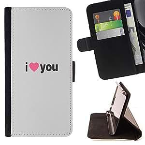 Dragon Case - FOR Samsung Galaxy S5 V SM-G900 - i love you - Caja de la carpeta del caso en folio de cuero del tir¨®n de la cubierta protectora Shell