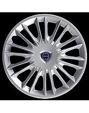 """Generico Lancia New YPSILON Oro Copricerchio Borchia Quattro (4) Coppa Ruota 15"""" 4289LC Logo Cromato Logo Blu Prod. Nuovo dal 2008"""