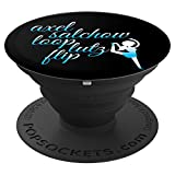 Funny PopSocket Gift Figure Skating Jumps Spin Skate Lovers - PopSockets Grip and Stand for Phones and Tablets