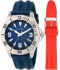 Nautica Men's N12635G NAC 102 Date Box Set Classic Analog Watch