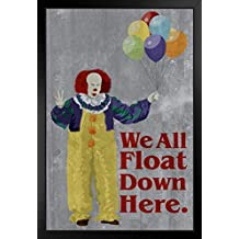 ProFrames We All Float Down Here Minimalist Movie Framed Poster 12x18