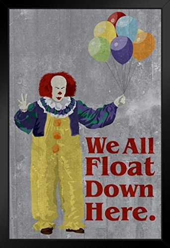 We All Float Down Here Minimalist Movie Framed Poster 14x20 inch -