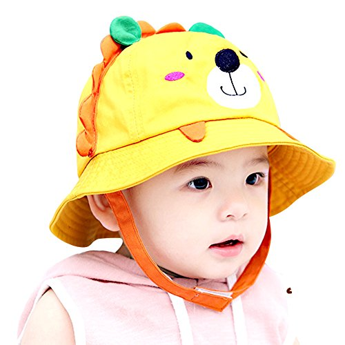IMLECK Little Lion Baby Sun Hat Outdoors Hat with Chin Strap, Breathable 50+ UPF - 2019 Best Gift in USA Yellow