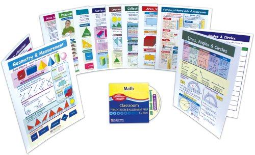 NewPath Learning 10 Piece Geometry and Measurement Visual Learning Guides Set, Grade 3-6 ()