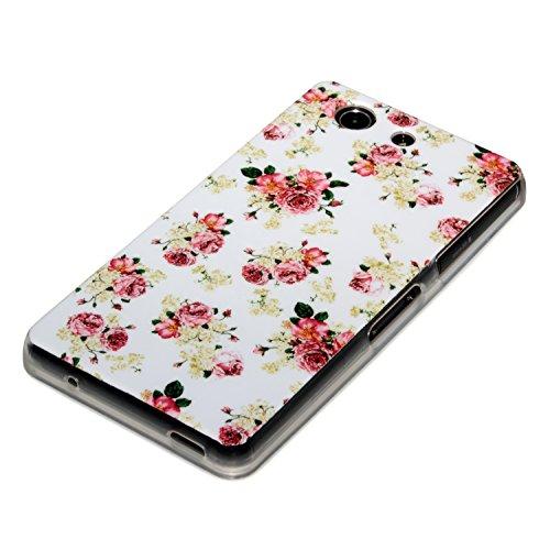 deinPhone Sony Xperia Z3 Compact arreglos florales de silicona blanco
