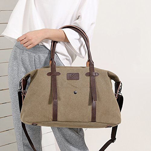 Women's with Large Lightweight Handbags Strap SDINAZ Shoulder Bag Casual Bags Shoulder Khaki Boston Brown HCwq4U