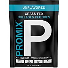 Collagen Peptides Powder Individual Packet. 100% Grass-fed Hydrolysate Type I III. Hydrolyzed Highest Potency Available. Keto Zero Low Carb Paleo. PROMIX 1 Ingredient. Gluten Free USA GMP. Unflavored.