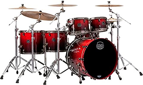 Mapex Saturn V Exotic Edition 5-Piece Studioease Shell Pack Cherry Mist Maple Burl (Mapex Saturn 7 Piece)