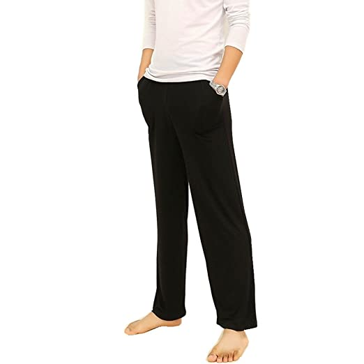 7bf134b175b Mercea Men s Home Lounge Pants with Pockets Soft Model Lightweight Big and  Tall