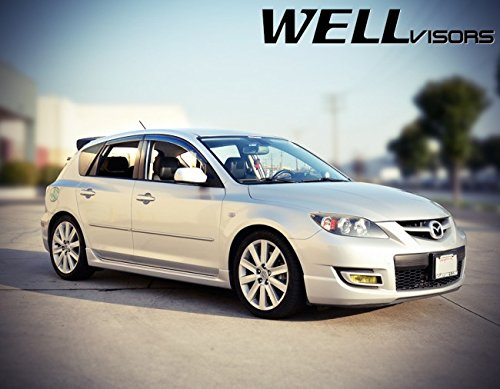 2004 Mazda 3 Hatchback >> Amazon Com Wellvisors Replacement For 2004 2009 Mazda 3
