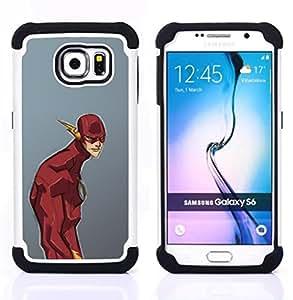 For Samsung Galaxy S6 G9200 - SUPERHERO COMIC CARTOON KIDS GREY Dual Layer caso de Shell HUELGA Impacto pata de cabra con im??genes gr??ficas Steam - Funny Shop -