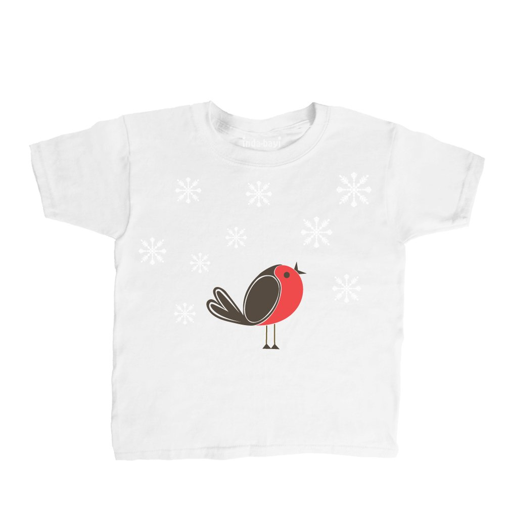Inda-Bayi Baby-Toddler-Kids Cotton T Shirt - Robin Redbreast