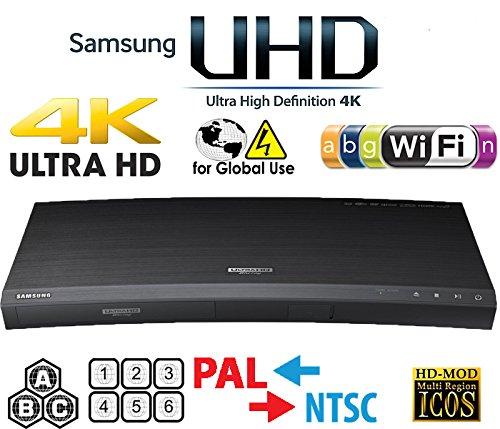 SAMSUNG M9500 UHD - Wi-Fi - Dual HDMI - 2K/4K - Region Free Blu Ray Disc DVD Player - PAL/NTSC - USB - 100-240V 50/60Hz for World-Wide Use & 6 ()